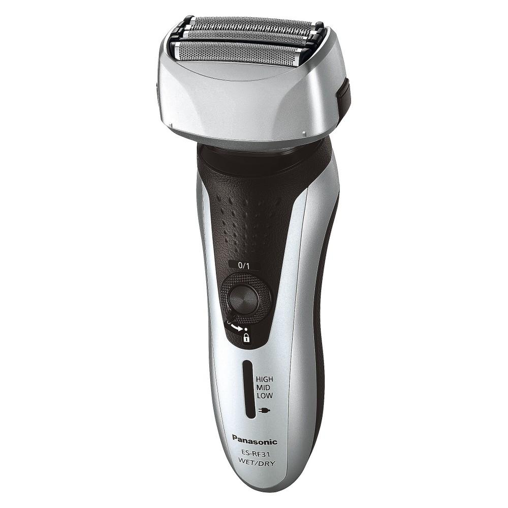 Panasonic Arc4 Nanotech 4-Blade Wet & Dry Men's Rechargeable Electric Shaver - ES-RF31-S, Silver/Black