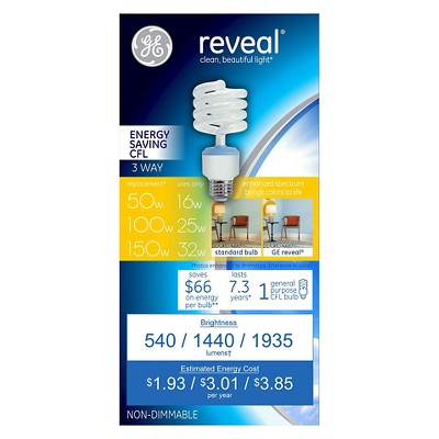 ge reveal 3way cfl light bulb