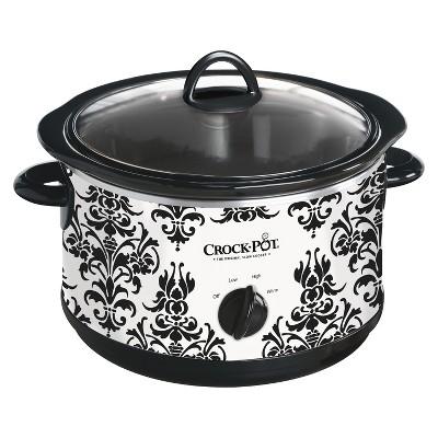 Crock-Pot® 4.5-Quart Manual Slow Cooker, Damask Pattern, SCR450-PT