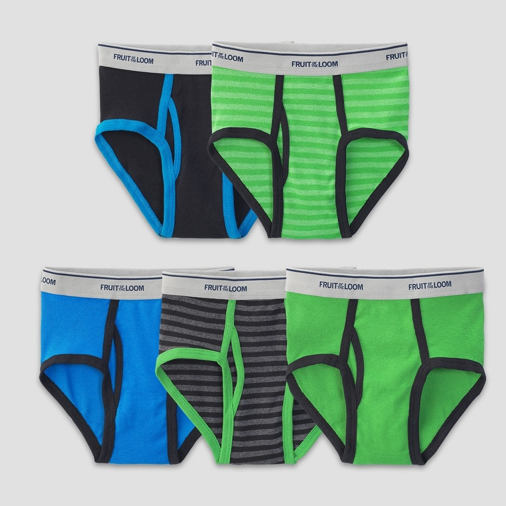 Fruit of the Loom Boys 5pk Briefs - M, Multi-Colored
