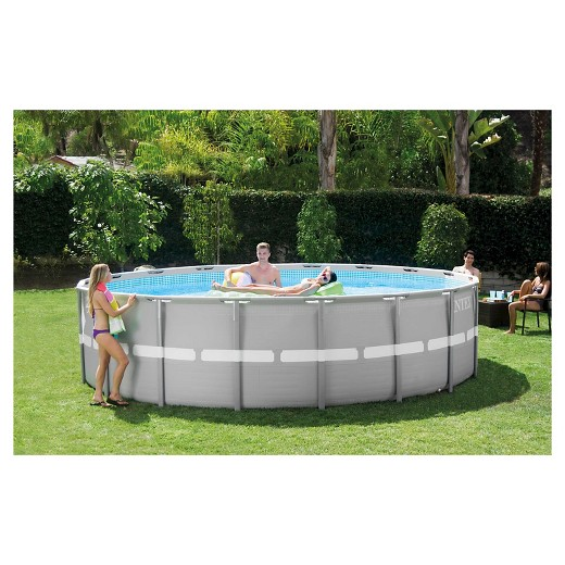 Intex 18 39 X 48 Ultra Frame Above Ground Pool With Filter