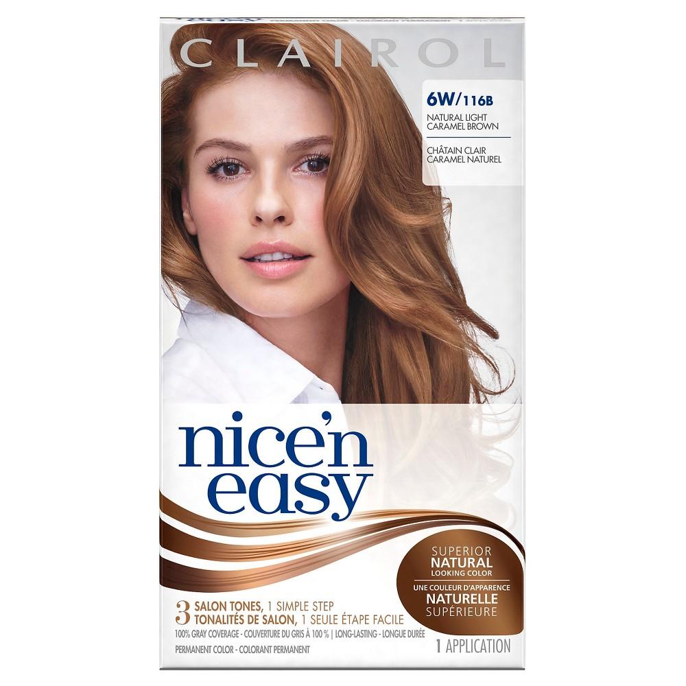 Clairol Nice 'n Easy Permanent Hair Color -6W 116B Natura...