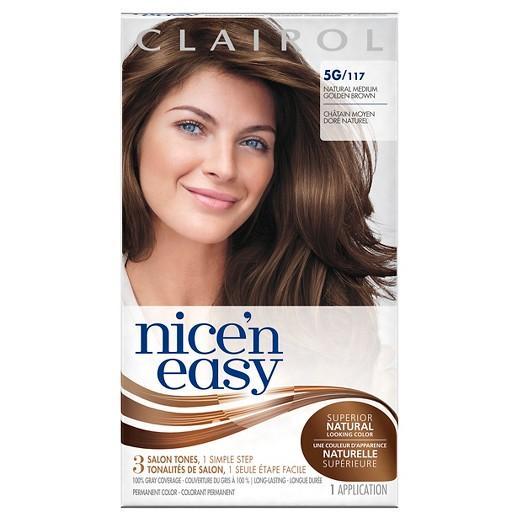 Clairol Nice \'n Easy Permanent Hair Color - 5G 117 Natural Medium ...