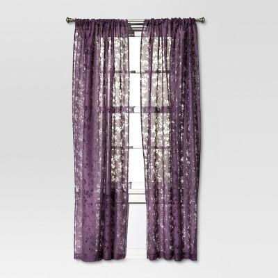 Botanical Burnout Window Sheer - Purple (54x84 )- Threshold™