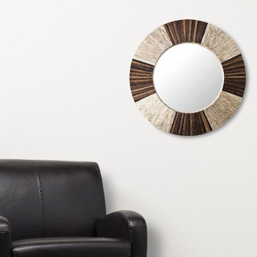 Circle Wall Mirrors round decorative wall mirror brown/natural : target