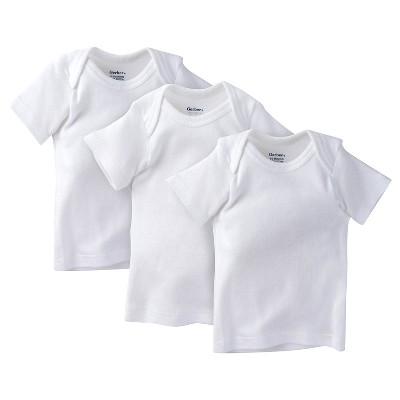 Gerber® Infant 3 Pack Short Sleeve Lap Shoulder T-Shirt Shirt