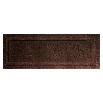 InterDesign Extra Long Spa Bath Rug - Chocolate (60x21 )