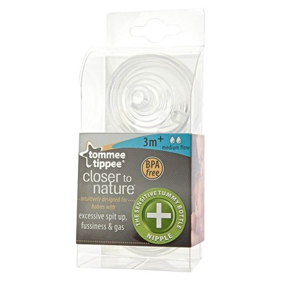 Tommee Tippee Closer To Nature Medium Flow Anti-Colic Nipples (2pk)