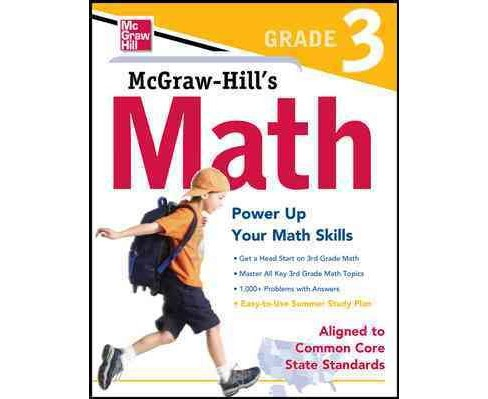 Math Grade 3 : Power Up Your Math Skills. Aligned to Common Core State Standards (Workbook) (Paperback) - image 1 of 1