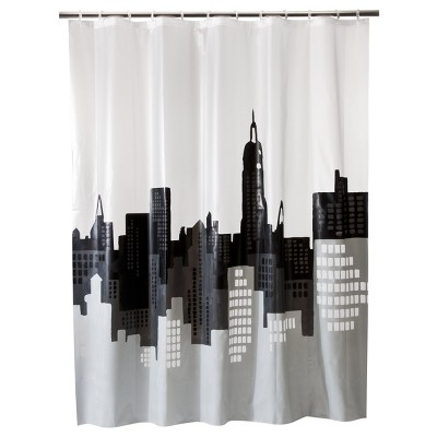 City Scape Shower Curtain Gray/White   Room Essentials™