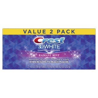 Crest 3D White Whitening Toothpaste Radiant Mint - 4.8oz - 2ct