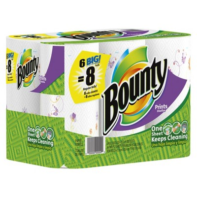 Bounty Butterfly Print Paper Towels 6 pk