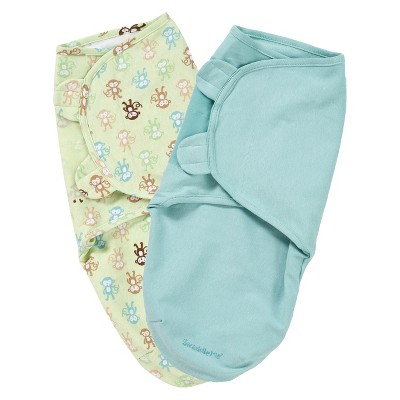 SwaddleMe® 2-pack-Monkey Fun (Small-Medium)