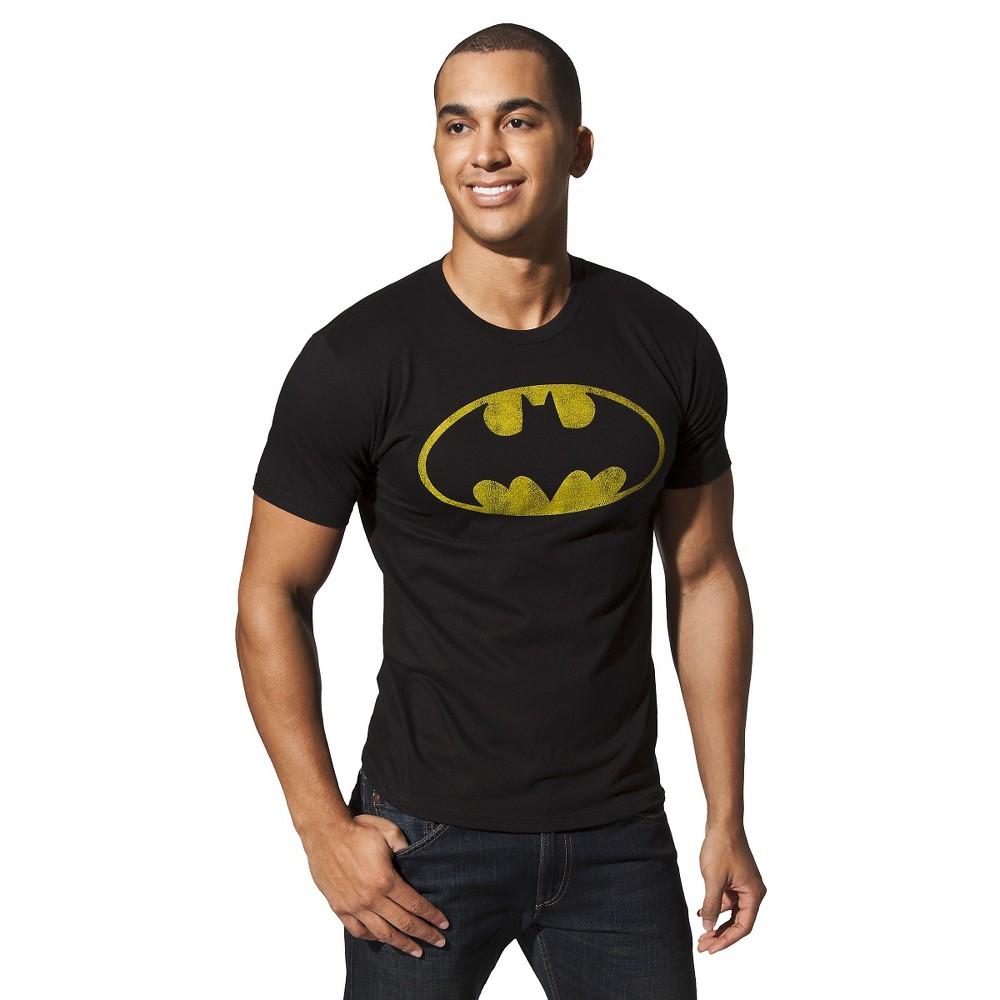 Mens Batman Shield T-Shirt - Black L