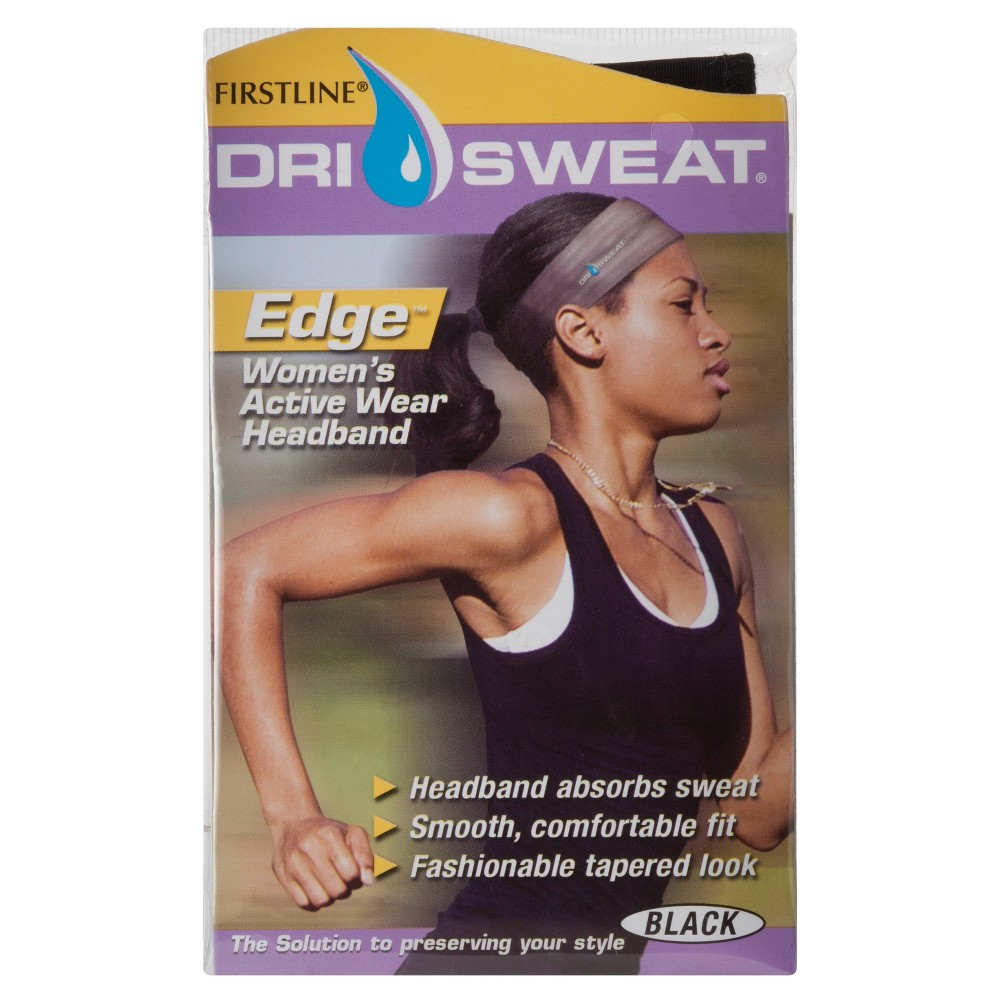 Firstline Dry Sweat Edge Womens Active Wear Head Band - Black, Multi-Colored