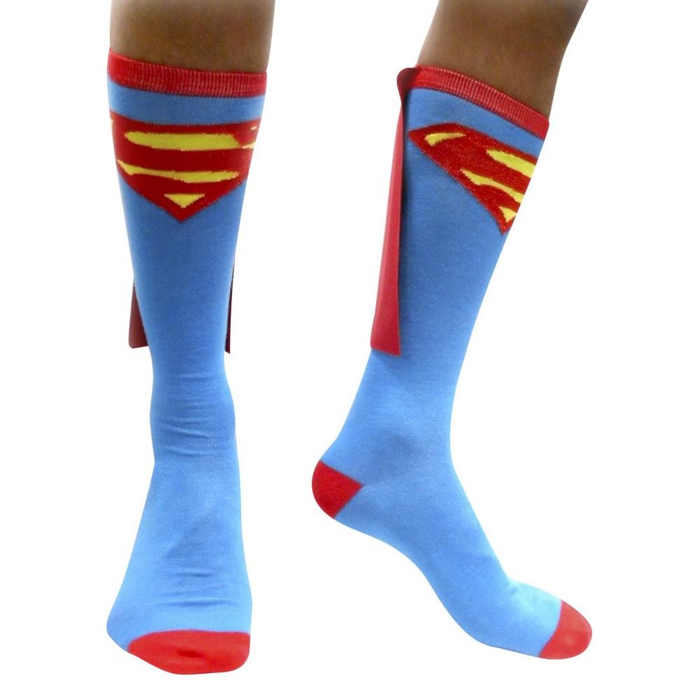 Superman Caped Socks - Blue, Mens
