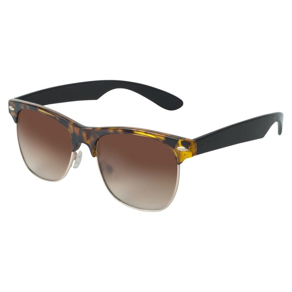 Retro Sunglasses - Tortoise (Green), Womens, Size: Large
