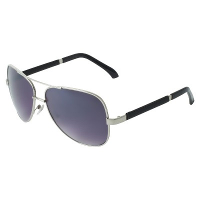 silver aviator sunglasses  Men\u0027s Aviator Sunglasses - Silver : Target