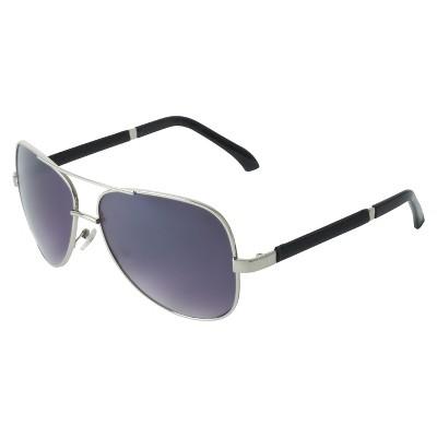 mens sunglasses aviators  Men\u0027s Aviator Sunglasses - Silver : Target