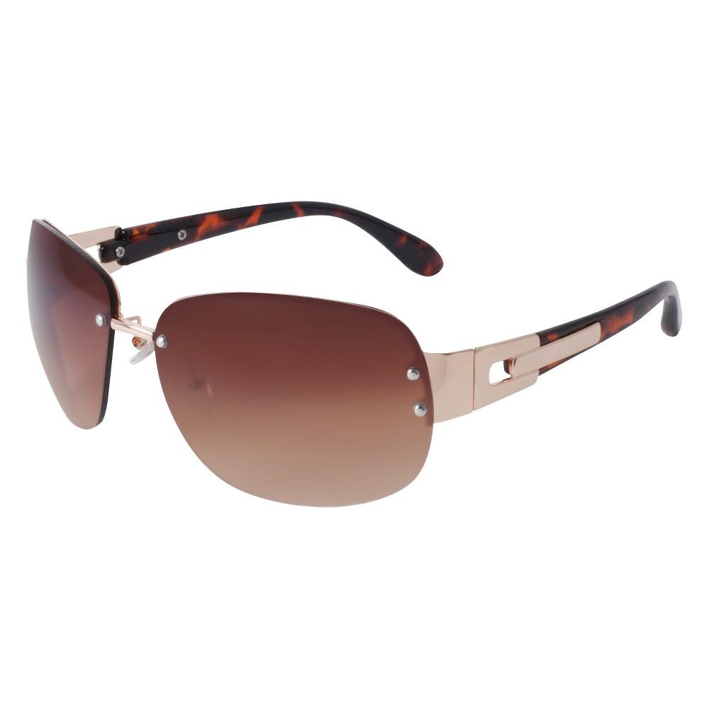 Womens Square Sunglasses- Gold