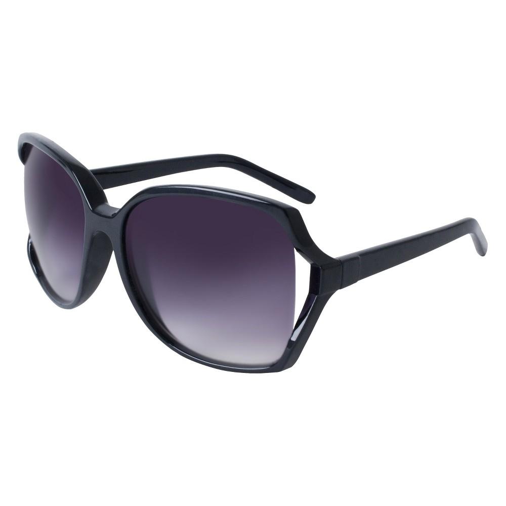 Womens Square Sunglasses- Black