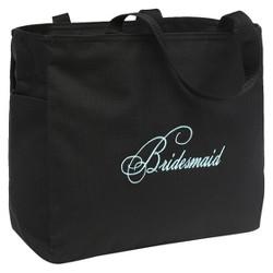 Bridesmaid Diamond Wedding Gift Tote Bag - Black