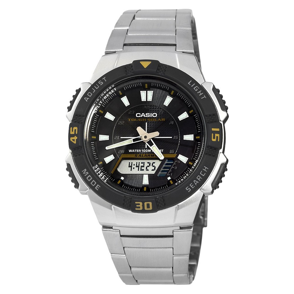 Casio Mens Slim Solar Watch - Silver (AQS800WD-1EV)