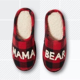Women's Deluxe by Dearfoams Mama Bear Scuff Slipper - Red