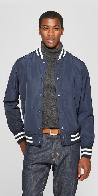 Men's Varsity Bomber Jacket - Goodfellow & Co™