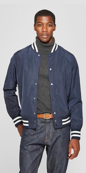 Men's Varsity Bomber Jacket - Goodfellow & Co™