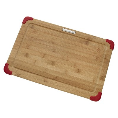 KitchenAid® 12  x 18  Bamboo Cutting Board - Brown/Red