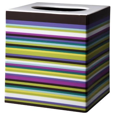 Techno Stripe Tissue Box