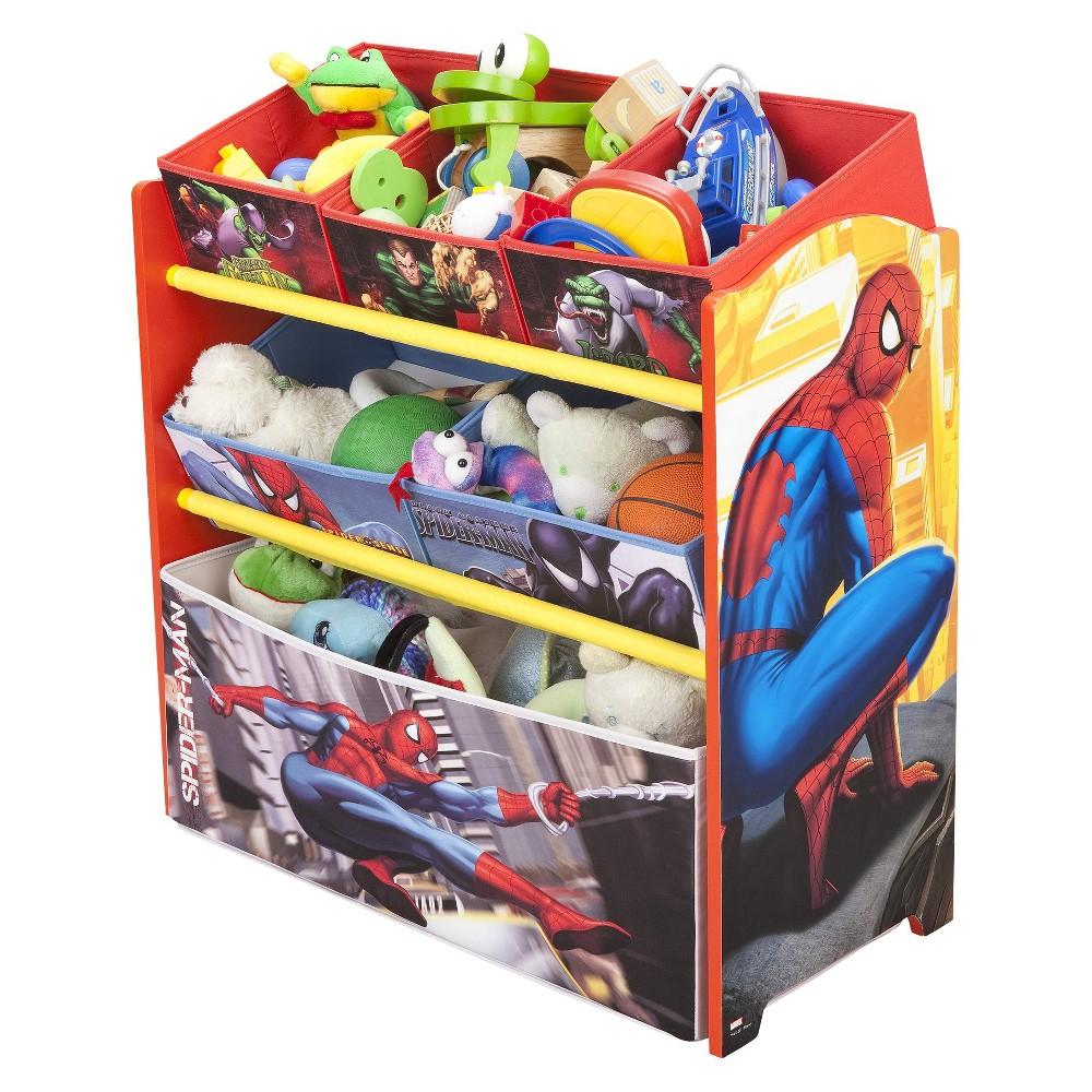 Delta Children Multi-Bin Toy Organizer - Spider-Man, Spider Man