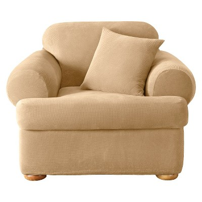 Stretch Pique 2 Piece T Chair Slipcover ...