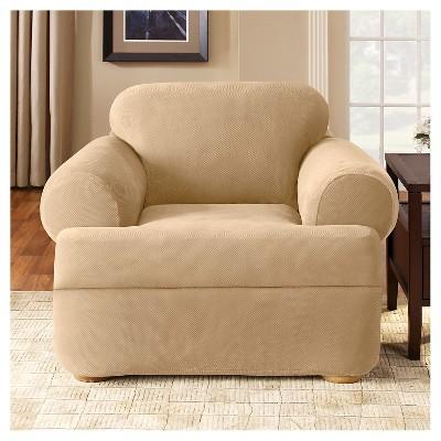 Stretch Pique 2 Piece T Chair Slipcover   Sure Fit