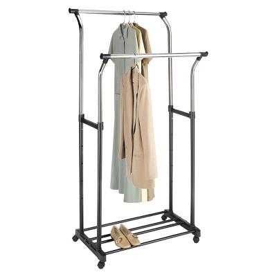 Whitmor Double Rod Adjustable Garment Rack