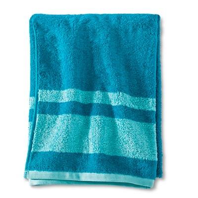 Fast Dry Stripe Bath Towel Turquoise - Room Essentials™