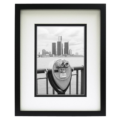 Double Matted Linear Frame Black 5 x7  - Room Essentials™