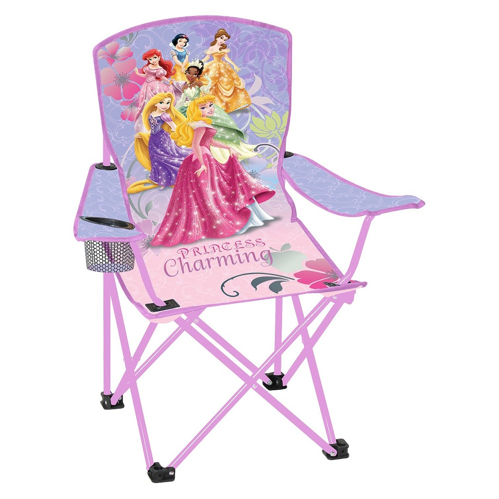 Disney Licensed Child Folding Arm Chair - Princess, Pink