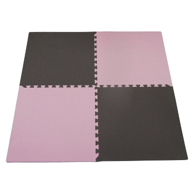 Tadpoles Double Sided Playmat Set (24 )4 Piece - Pink/Brown