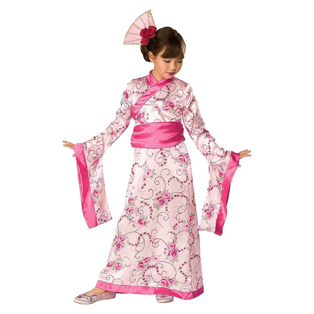 Girls Cherry Blossom Costume Small (4-6), Size: S(4-6), Variation Parent