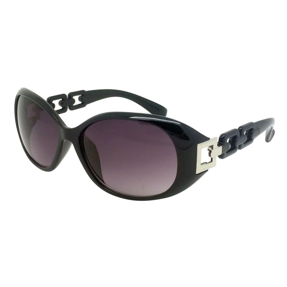 Oval Sunglasses - Black, Womens