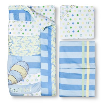 Dr. Seuss by Trend Lab 3pc Crib Bedding Set – Oh Places Blue