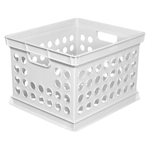 Milk Crate Storage Bin White - Room Essentials : Target
