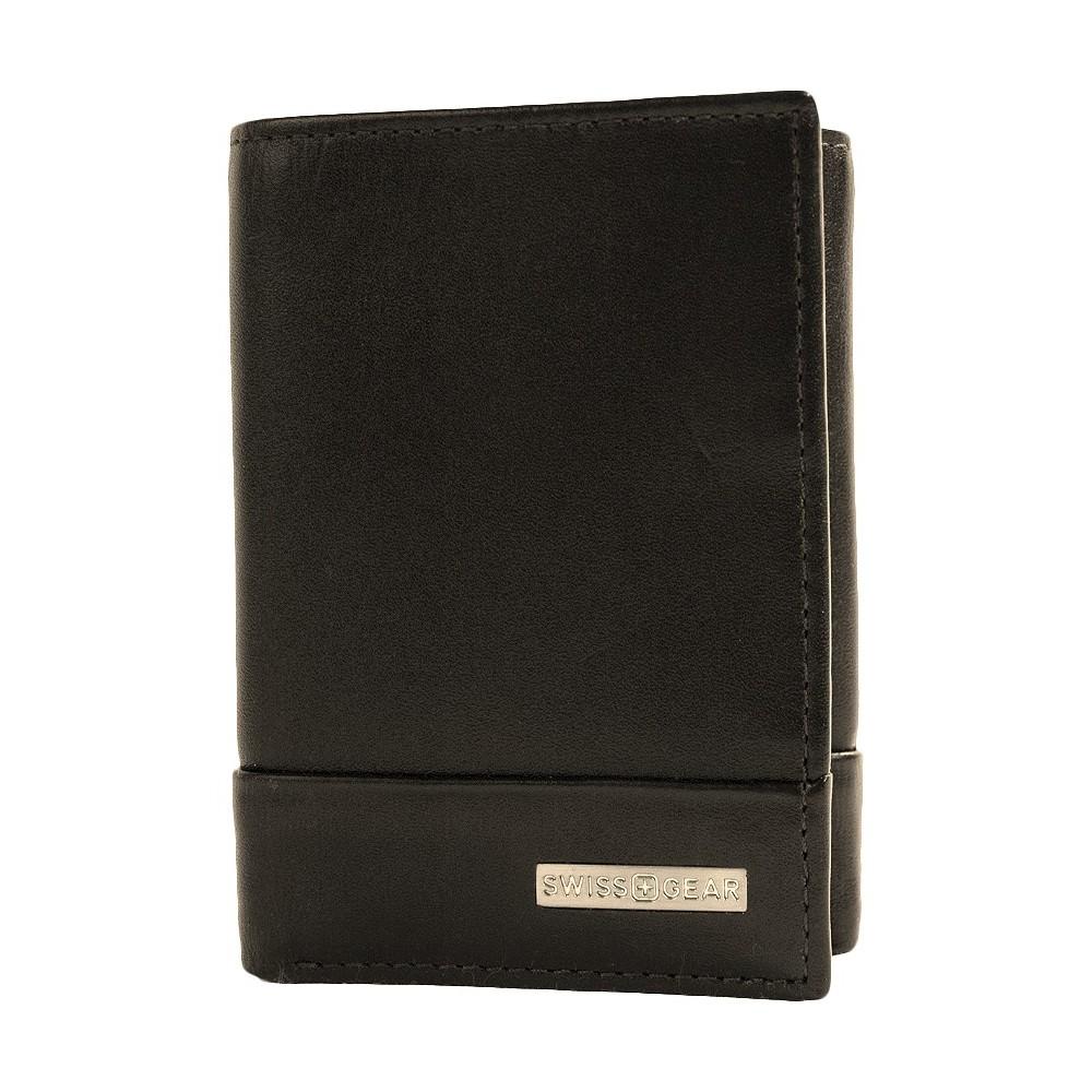 Swiss Gear Mens Lucerne Trifold Wallet Black
