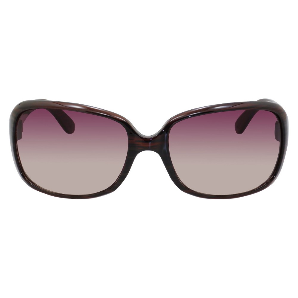 Gradient Lens Sunglasses with Brown Frame, Womens