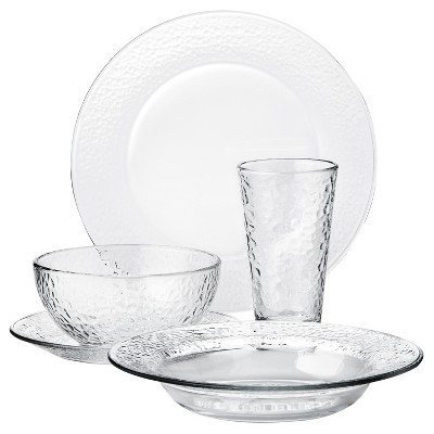 Libbey Frosted Glass 20pc Dinnerware Set