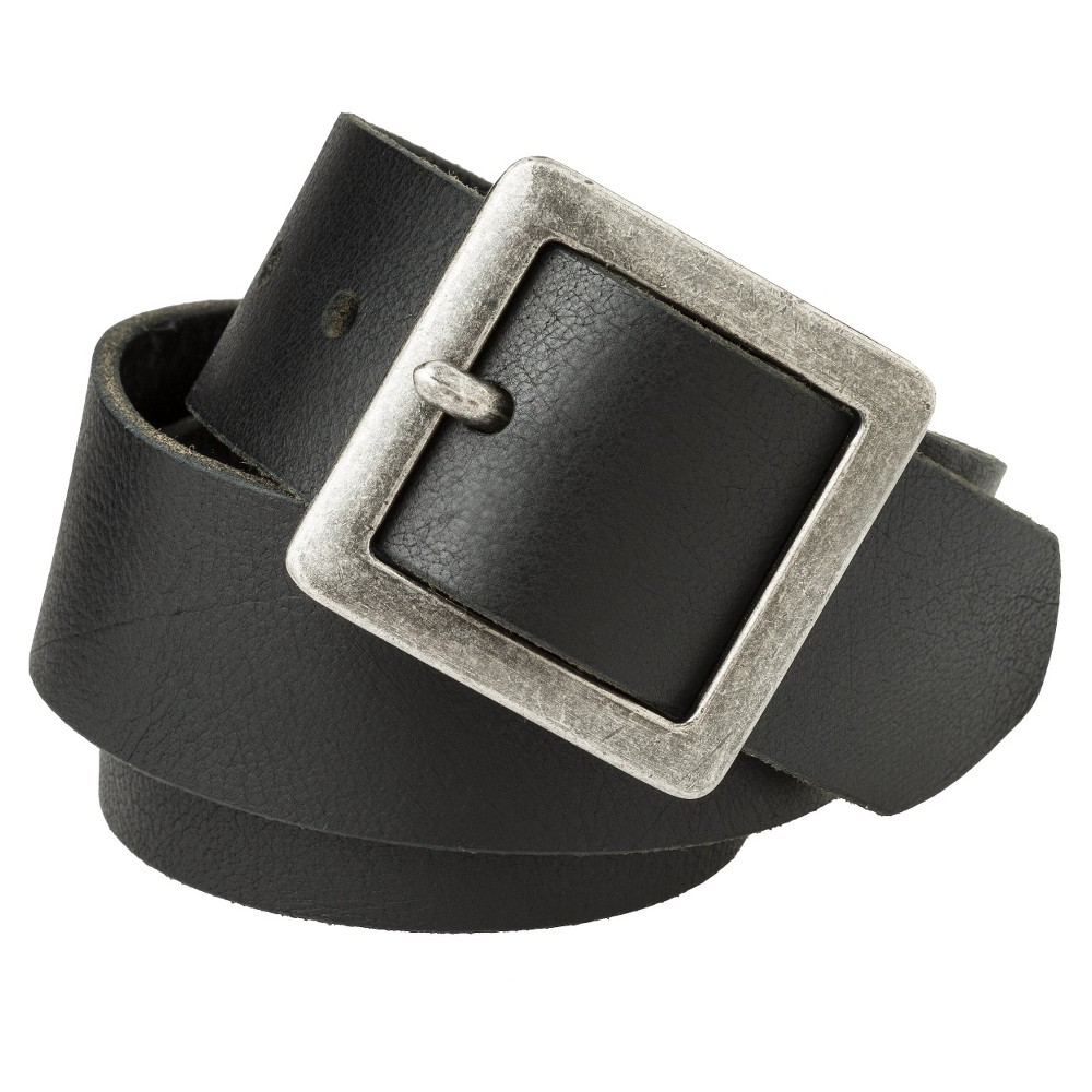Mossimo Supply Co. Black Genuine Leather Pilgrim Belt - L, Womens