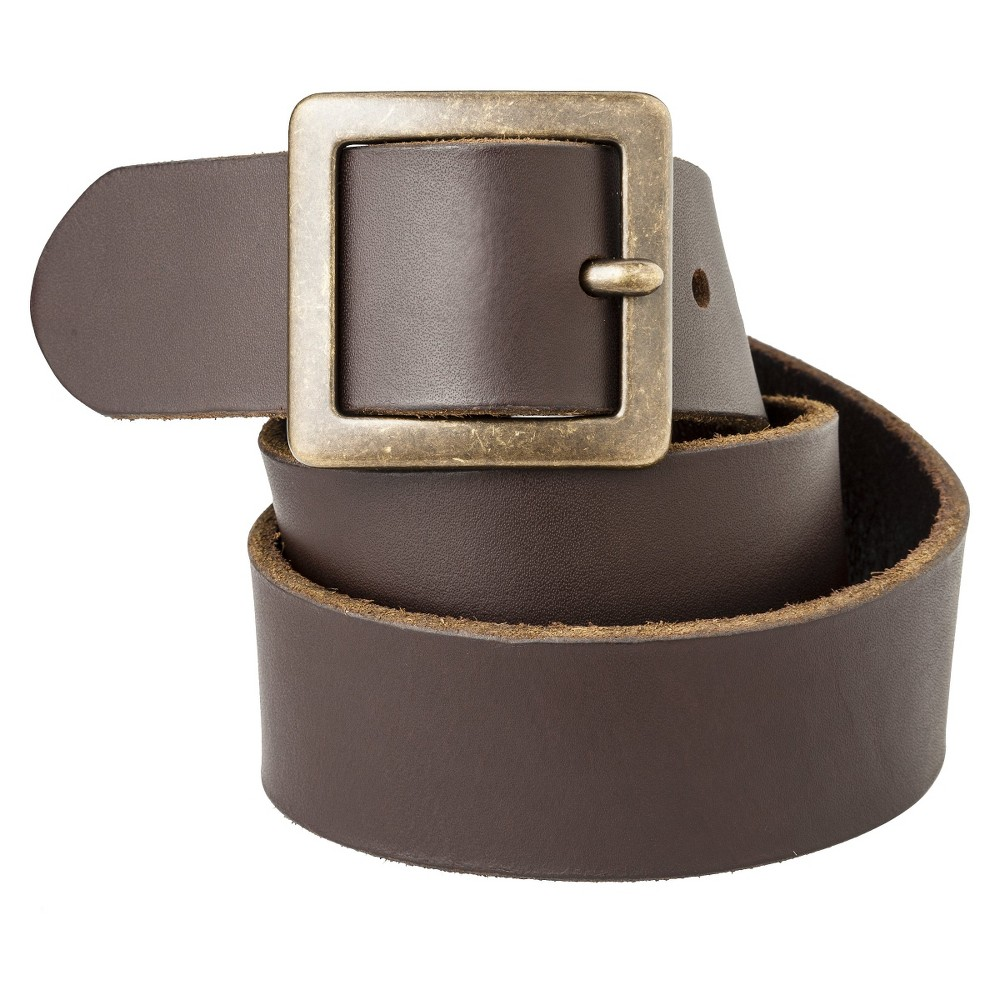 Mossimo Supply Co. Brown Genuine Leather Pilgrim Belt - Xxl, Womens