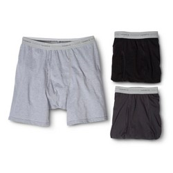 Hanes® Men's 3Pk ComfortBlend® Boxer Briefs - Assorted Colors